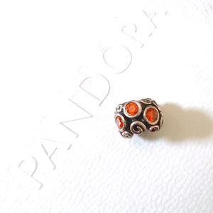 Pandora Orange Crystal Charm